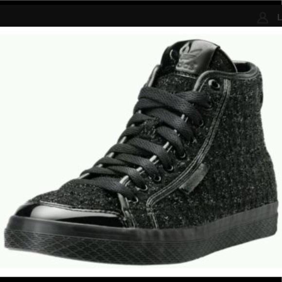 Black Shimmer Mid Top Honey Sneaker Sparkle Adidas FJuT13lKc